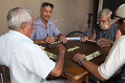 Photograph - The Havana Dominos Players by Peter Bates