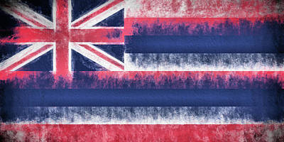 Digital Art - The Hawaii Flag by JC Findley