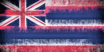 Digital Art - The Hawaii Flag by JC Findley
