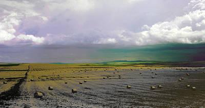 Photograph - The Hay Field by David Pantuso