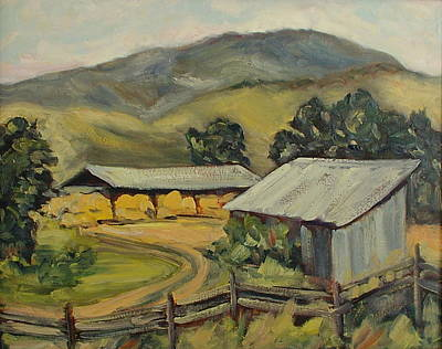 The Hay That Made The Valley Famous Art Print