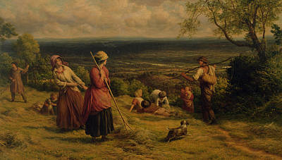Harvesting Painting - The Haymakers by James Thomas Linnell