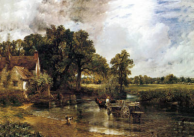 Hay Wagon Painting - The Haywain by John Constable