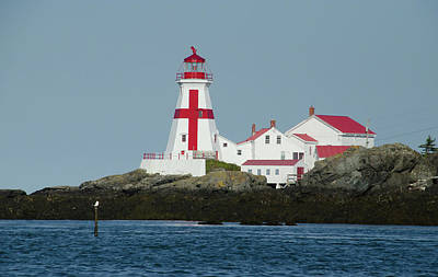 Photograph - The Head Harbour Light by Janice Adomeit