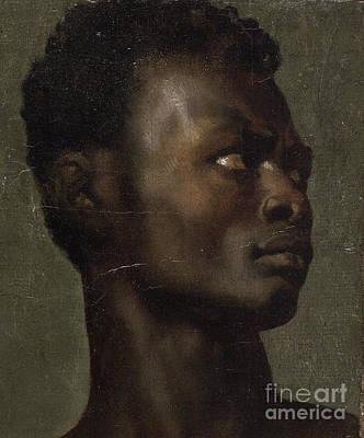 The Head Of An African Art Print