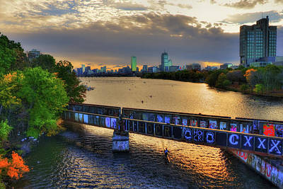 Photograph - The Head Of The Charles - The Regatta - Boston, Ma by Joann Vitali