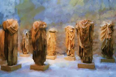 Roman Statue Painting - The Headless Romans by Michael Greenaway