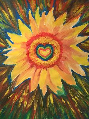 Painting - The Healing Sunflower by Arna Vodenos