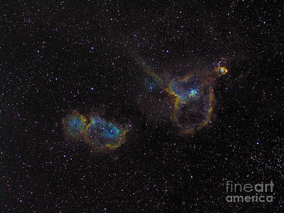 Ic Images Photograph - The Heart And Soul Nebulae by Filipe Alves