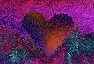Digital Art - The Heart Beats by David Pantuso