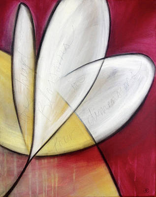 Painting - The Heart Blossoms by Anna Elkins
