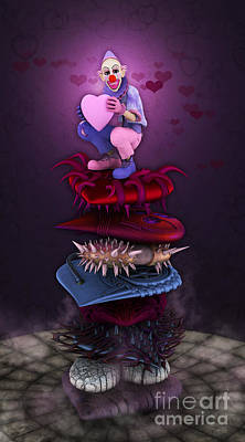 Grim Digital Art - The Heart Collector by Jutta Maria Pusl