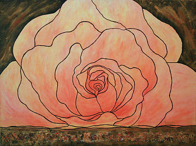 Painting - The Heart Of A Rose.... by Renate Dartois