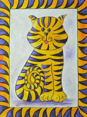 Painting - The Heart Of A Tiger by Kenny Francis