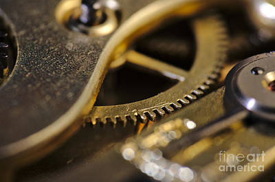 Macro Photograph - The Heart Of A Watch by Angelo DeVal
