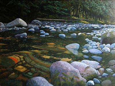 The Heart Of Quartz Creek Art Print by Ron Smothers