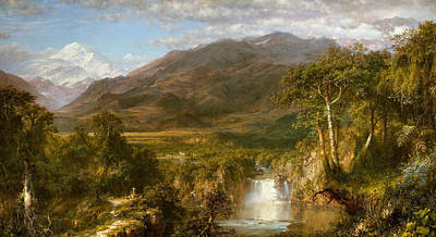 South American Jungle Painting - The Heart Of The Andes by Frederic Edwin Church