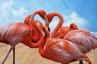 Amy Weiss - The Heart Of The Flamingos by John Kolenberg