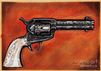 Drawing - The Heart Of The Gunfighter II by Ricardo Reis