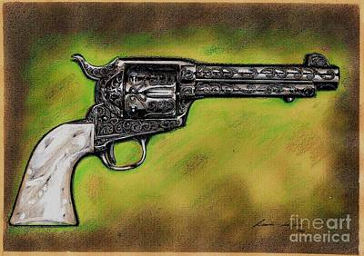 Drawing - The Heart Of The Gunfighter by Ricardo Reis