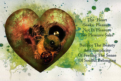 Design Digital Art - The Heart Seeks Pleasure  by Georgiana Romanovna