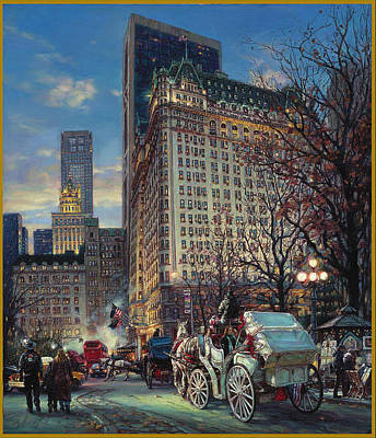 Cao Yong Painting - The Heartbeat Of New York by Cao Yong