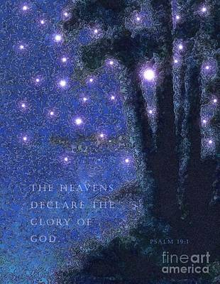 Painting - The Heavens Declare God's Glory by Hazel Holland