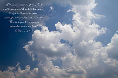 Version 1 Photograph - The Heavens Declare The Glory Of God by Kathy Clark