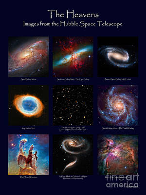 Photograph - The Heavens - Images From The Hubble Space Telescope by David Perry Lawrence
