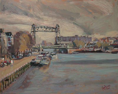 River Painting - The Hef Rotterdam by Nop Briex