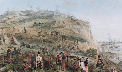 The Heights Of Alma   The Day After The Battle  Art Print by Joseph-Benwell Austin