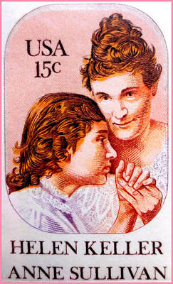 Approval Painting - The Helen Keller And Anne Sullivan  by Lanjee Chee