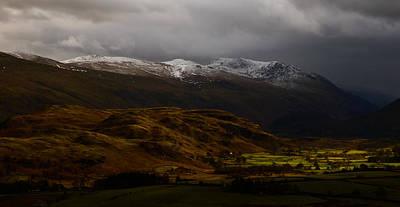The Helvellyn Range In Winter Art Print by John Collier