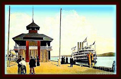 The Hendrik Hudson Steamer At Kingston Point N Y, 1913 Art Print