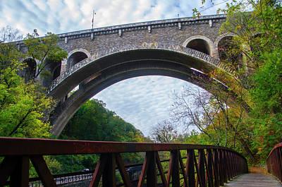 Wissahickon Creek Photograph - The Henry Avenue Bridge by Bill Cannon