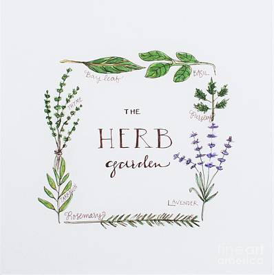 Painting - The Herb Garden by Elizabeth Robinette Tyndall