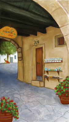 Painting - The Herb Shop by Sannel Larson