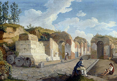 Painting - The Herculaneum Gate In Pompeii by Treasury Classics Art