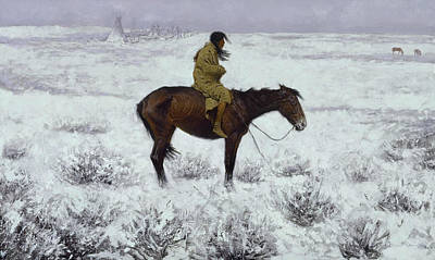 The Herd Boy Print by Frederic Remington