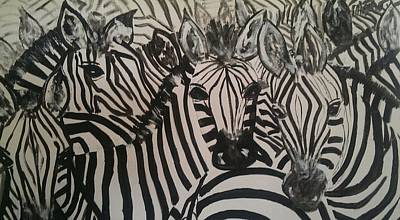 Painting - the Herd by Judi Goodwin
