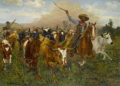 Richard Lorenz Painting - The Herders by Richard Lorenz