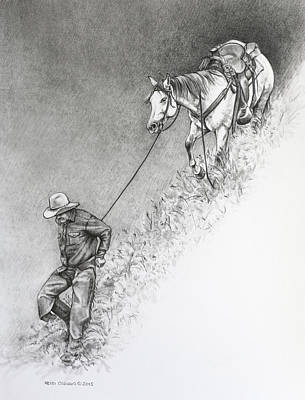 Drawing - The Herdsman by Heidi Osgood-Metcalf