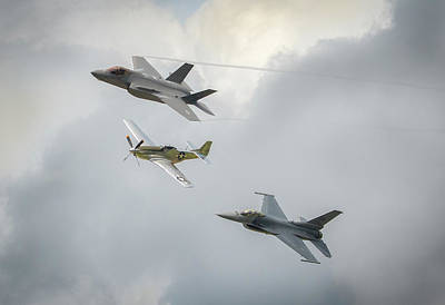 Photograph - The Heritage Flight by Brian Caldwell