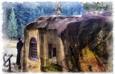 Moldova Digital Art - The Hermitage Of Daniil by Dan Mintici
