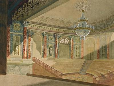 The Hermitage Painting - The Hermitage Theatre by MotionAge Designs