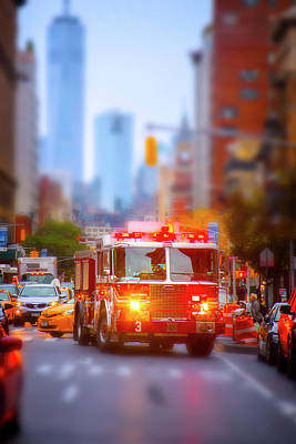 Miniature Effect Photograph - The Heroes Of New York City by Mark Andrew Thomas