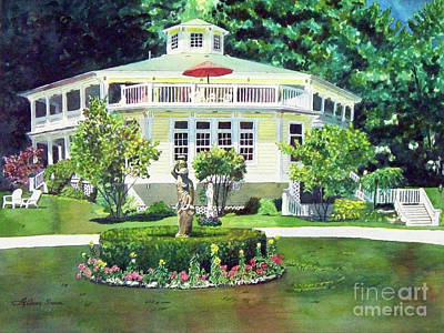 Painting - The Hexagon House, Bed And Breakfast, House Painting by LeAnne Sowa