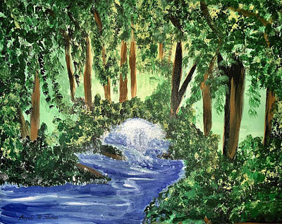 Mixed Media - The Hidden Forest by Angela Holmes