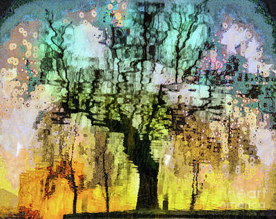 Mixed Media -  The Hidden Life Of Trees And Rainbows  by Daliana Pacuraru