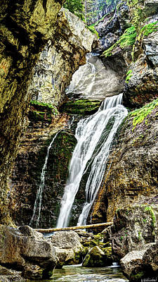 Photograph - The Hidden Mountain Waterfall by Weston Westmoreland